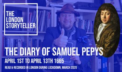 The London Storyteller reads Samuel Pepys Diary video