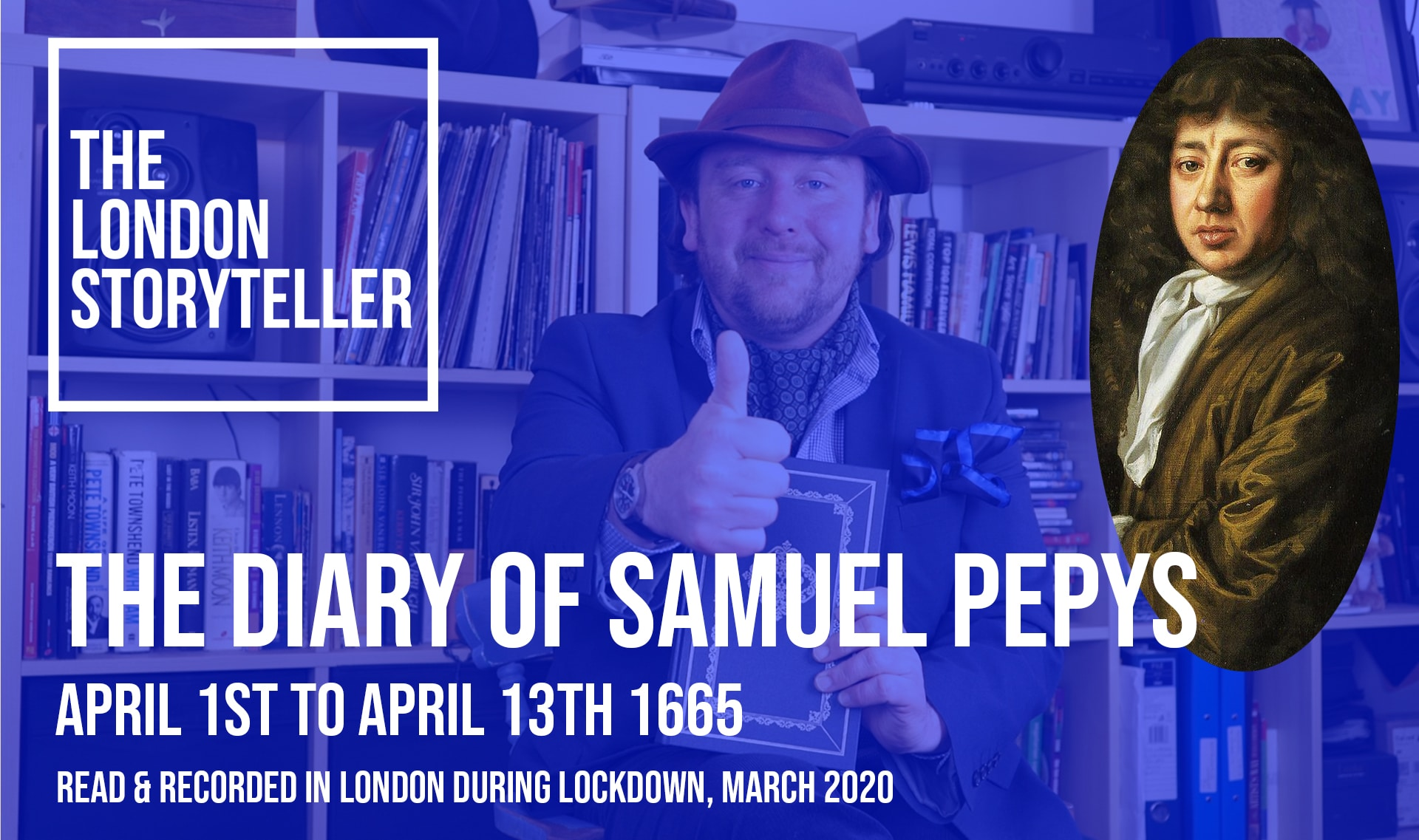 The London Storyteller reads Samuel Pepys Diary video